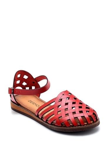Derimod Kadın Sandalet(Ac111) Casual Kırmızı